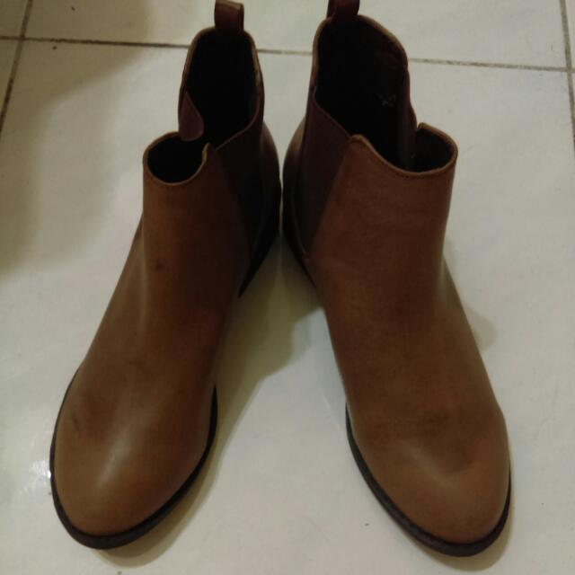 短靴 41 25-25.5cm 女靴 靴子 含運全新