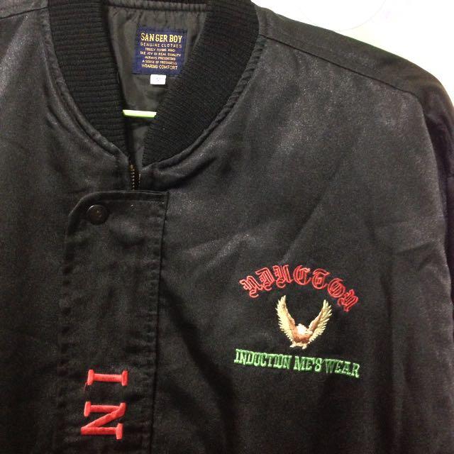 黑色ㄉ 老鷹刺繡外套🦅