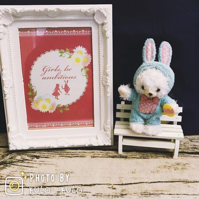 全新 絕版日本迪士尼大學熊 復活節兔子款