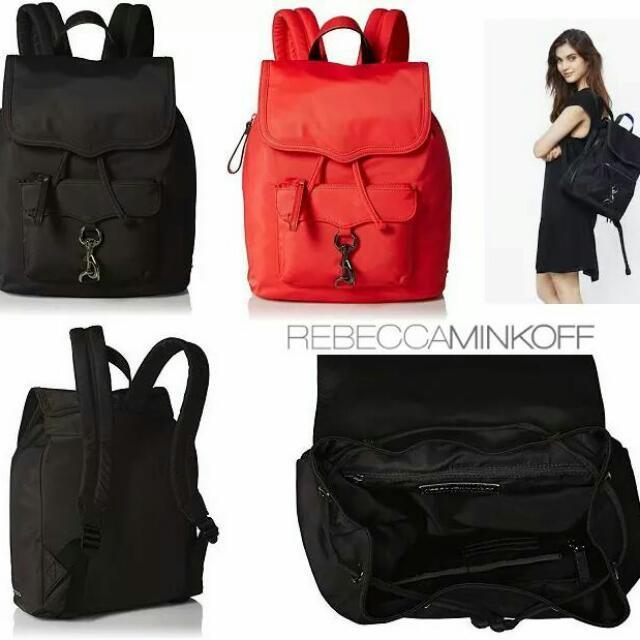 這款後背包等到下折扣啦… Rebecca minkoff 厚尼龍時尚背包
