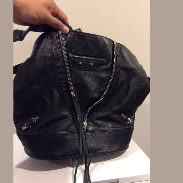 Authentic Balenciaga Bucket Bag & Flats Size 38