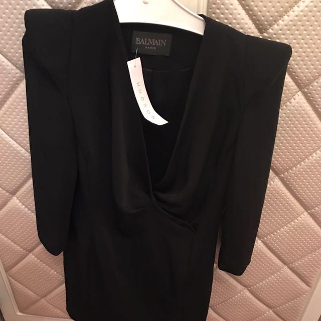 Balmain Kw Super Quality Tuxedo Dress