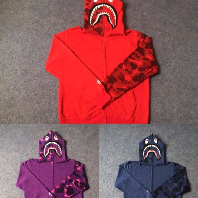 Bape Shark Hoodie Mens Fashion Clothes On Carousell