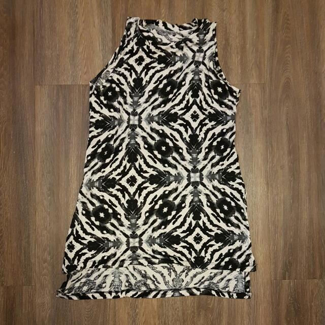 Black And White Leopard Top