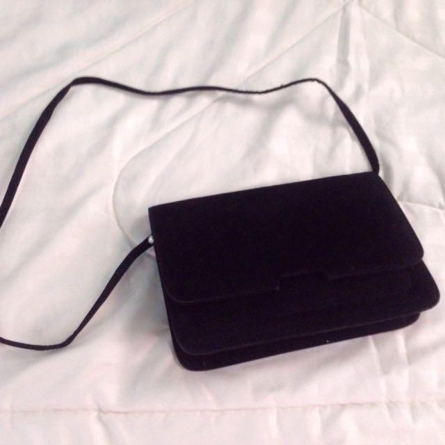 Black Clutch / Sling Bag