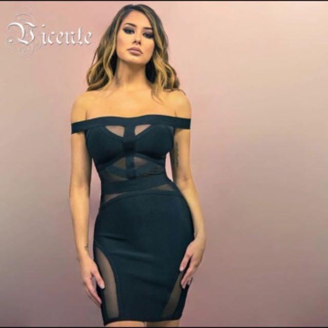 Black Mesh Dress Size 6-8