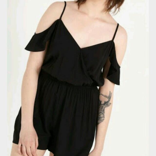 Cotton on Black Playsuit, xs