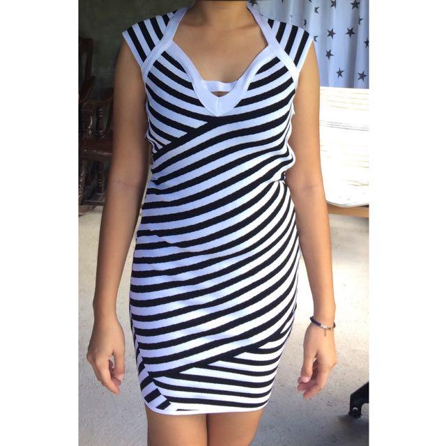 Black&White Garter Dress