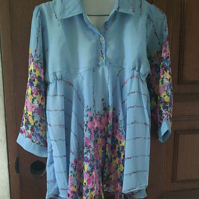 Reprice!! BLOUSE BABY DOLL FLORAL