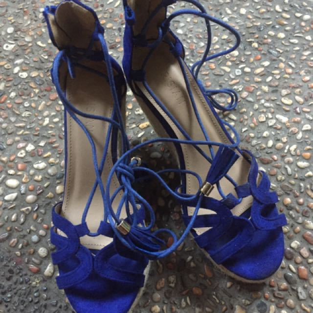 Blue Parisian Wedge