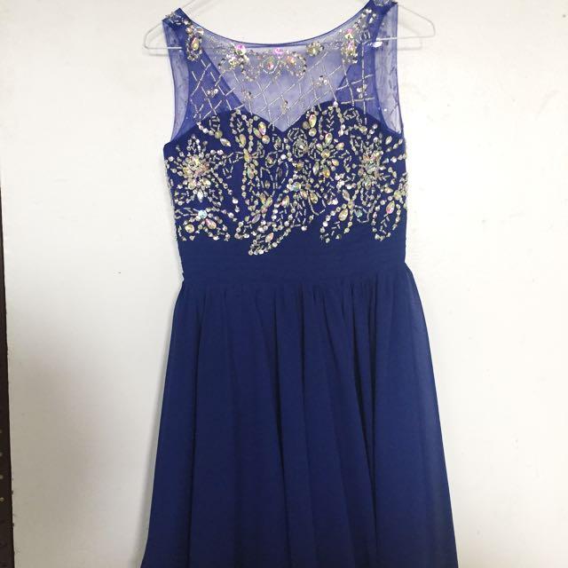 Blue Prom Dress / Graduation Dress