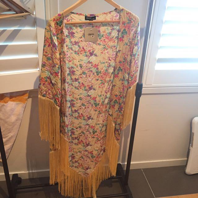 BNWT Asos Fringe Kimono