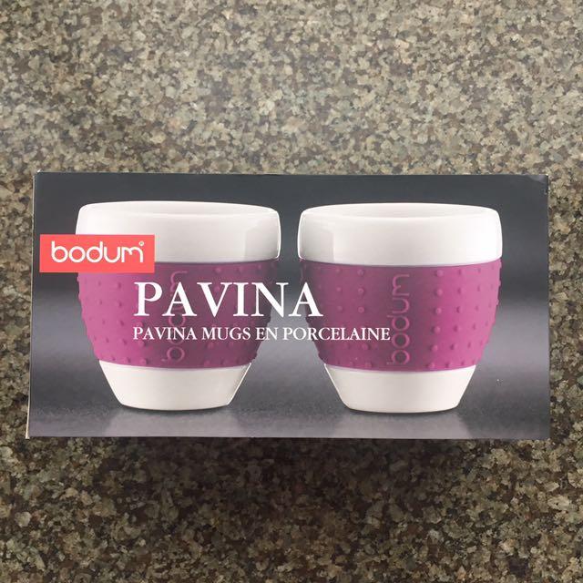 Bodum Pavina Porcelain Mugs With Silicone Sleeve