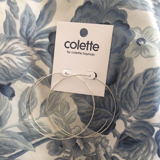 Colette Silver Hoop Earrings