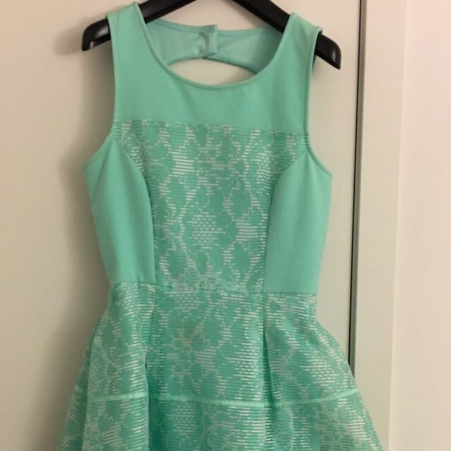 Cute Green/teal Dress Sz Small Perfect For Weddings