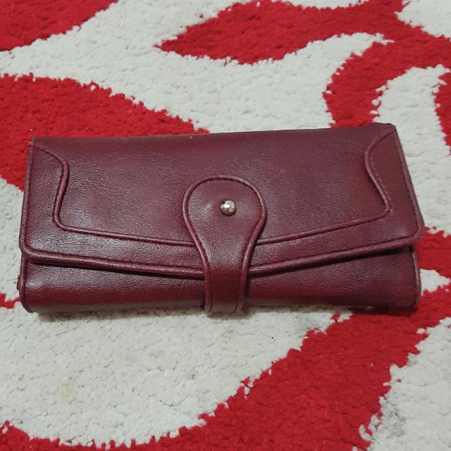 Dompet Lipat 3 - Merah Hati