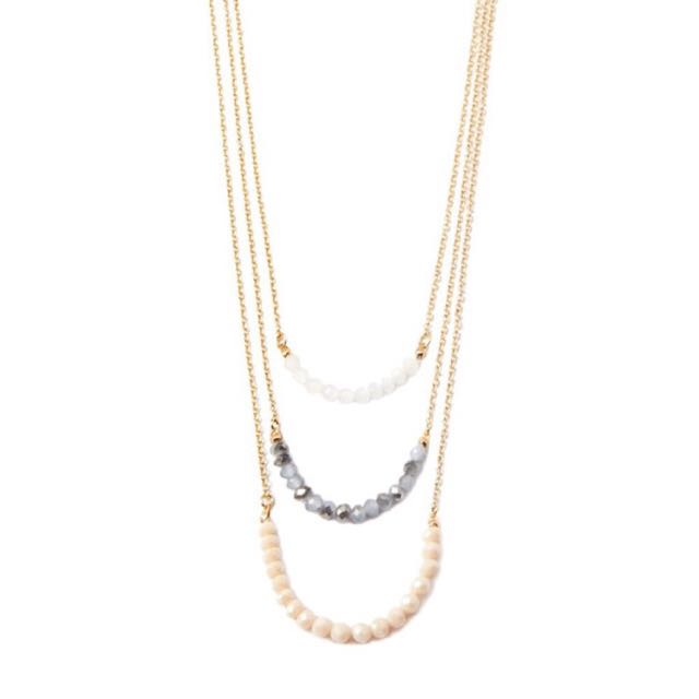 F21 Forever21 Layered Bead Necklace