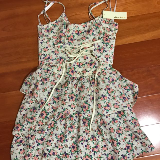 Floral Dress With Corset