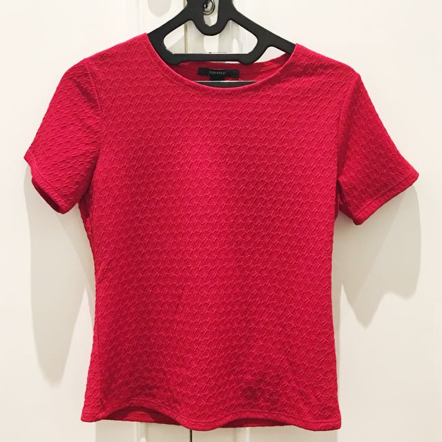 Forever21 Red Top Size S
