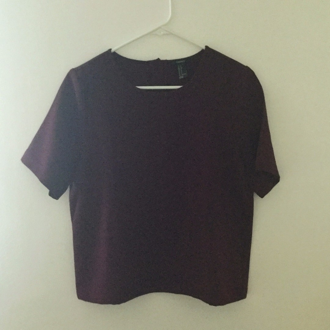 Forever 21 Formal Maroon Top