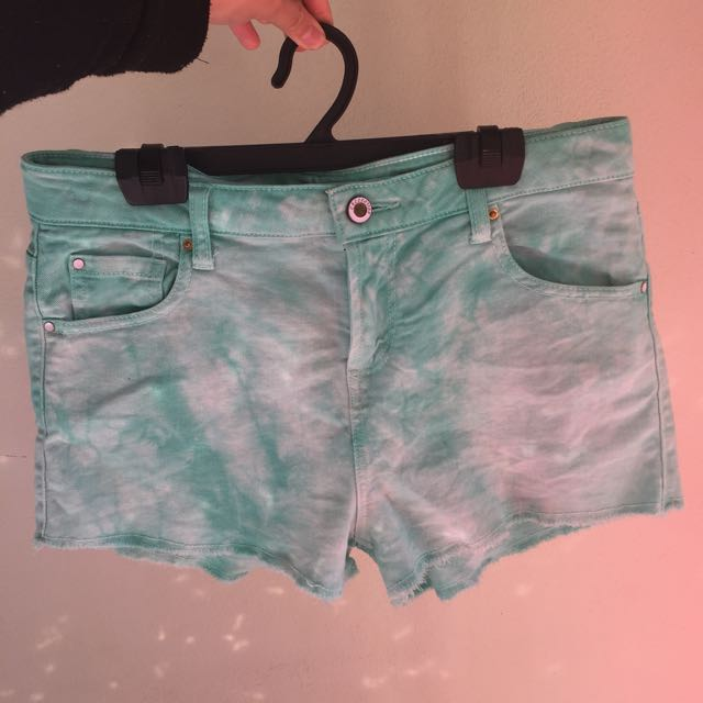 Forever 21 Teal Tie dye Shorts