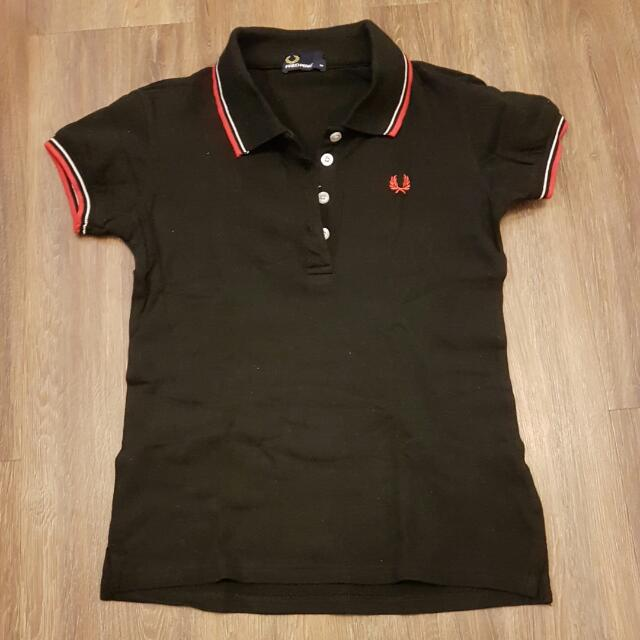 Fred Perry Overrun Black Shirt