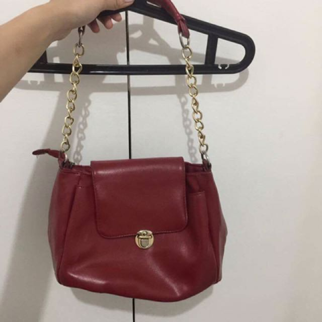 Gold Chained Red Bag