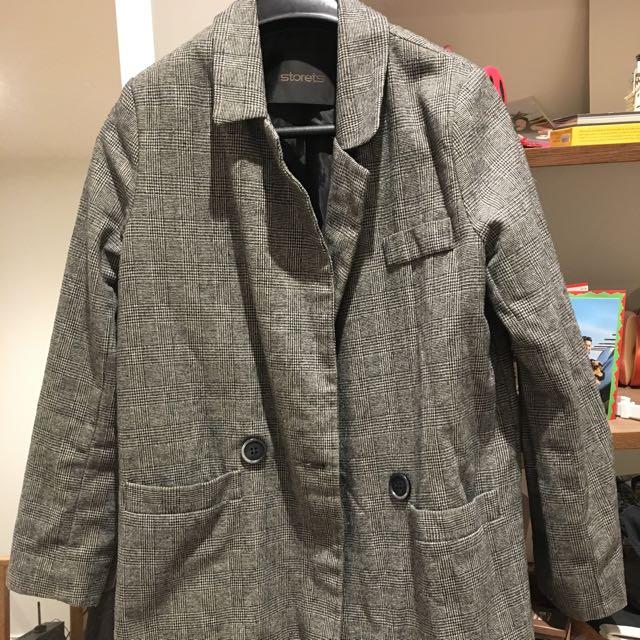 Grey Long Blazer
