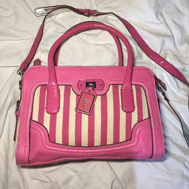 Authentic Guess bag CA345005 pink striped 2-way shoulder bag