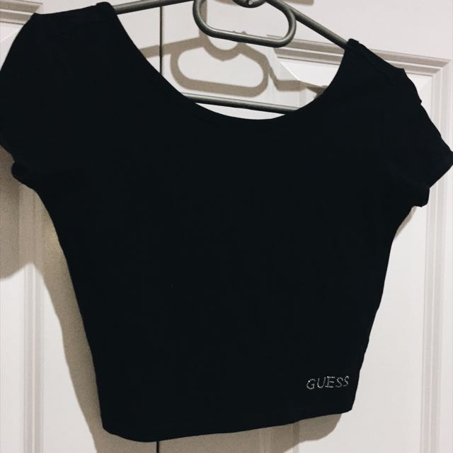 Guess Black Crop-top $20