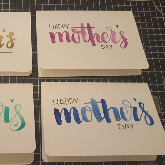 Hand Painted Mothers Day Cards
