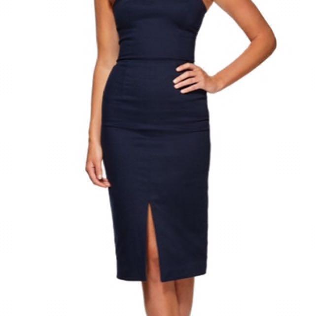 Hire: Kookai Athens Dress in Midnight  Size 40 (12)