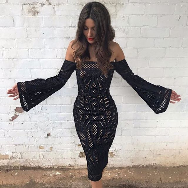 HIRE: Thurley Sonnet Strapless dress in Black Size 10