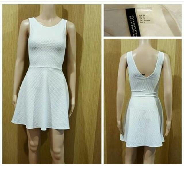 H&M Textured Dress (White)