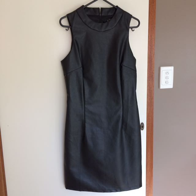 ICE Leather Black Dress
