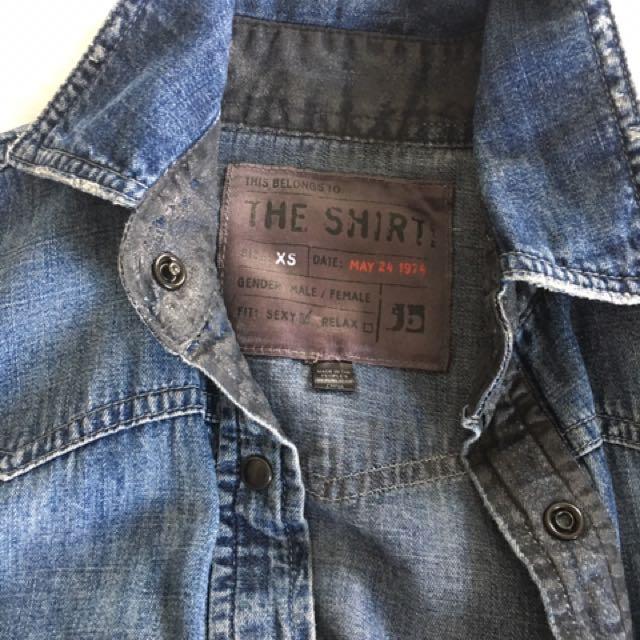 Joe's Jean Shirt Dress Xs