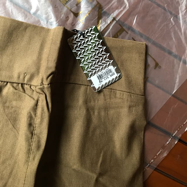 Khaki Stretch Pants AVENUE