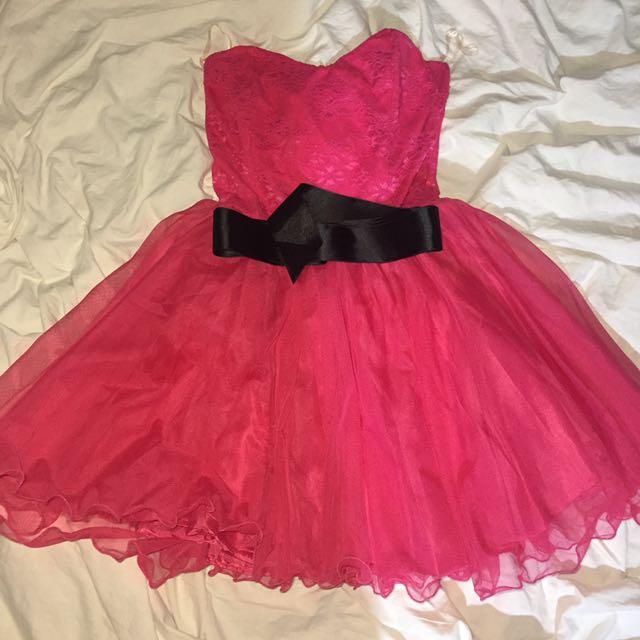 Kikiriki Hot Pink Tube Dress
