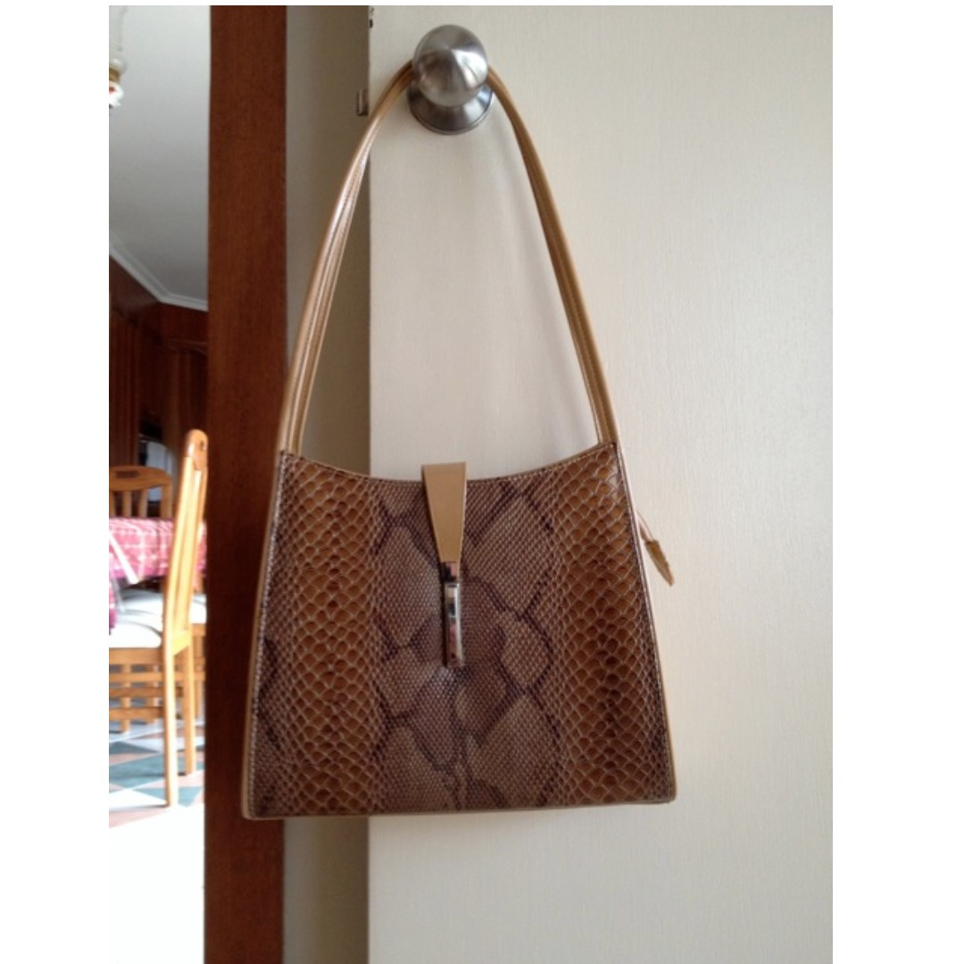 Ladies Reptile Print Handbag