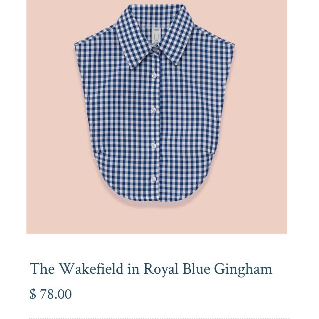 Le Cou Navy Gingham BNWT M/L