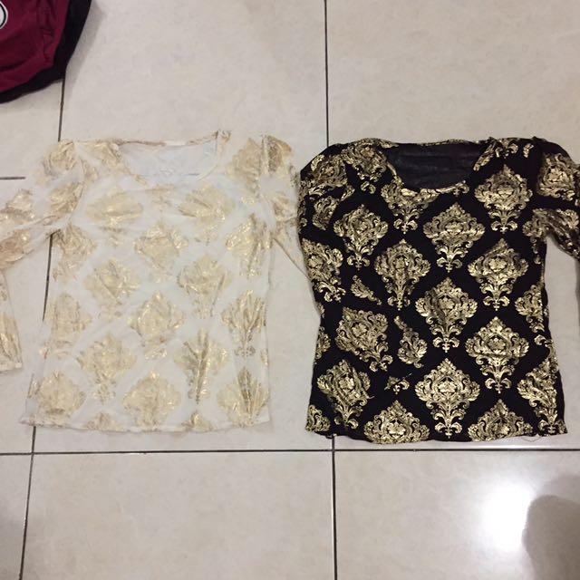 Long Sleeve Gold Blouse