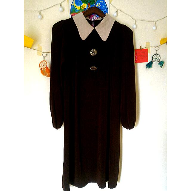 Loose Dress Dark Brown