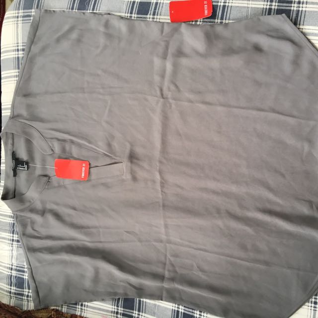 Forever21 Loose Grey Top