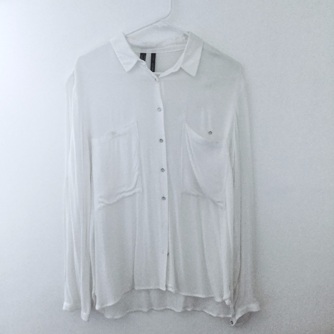 Mango White Polo