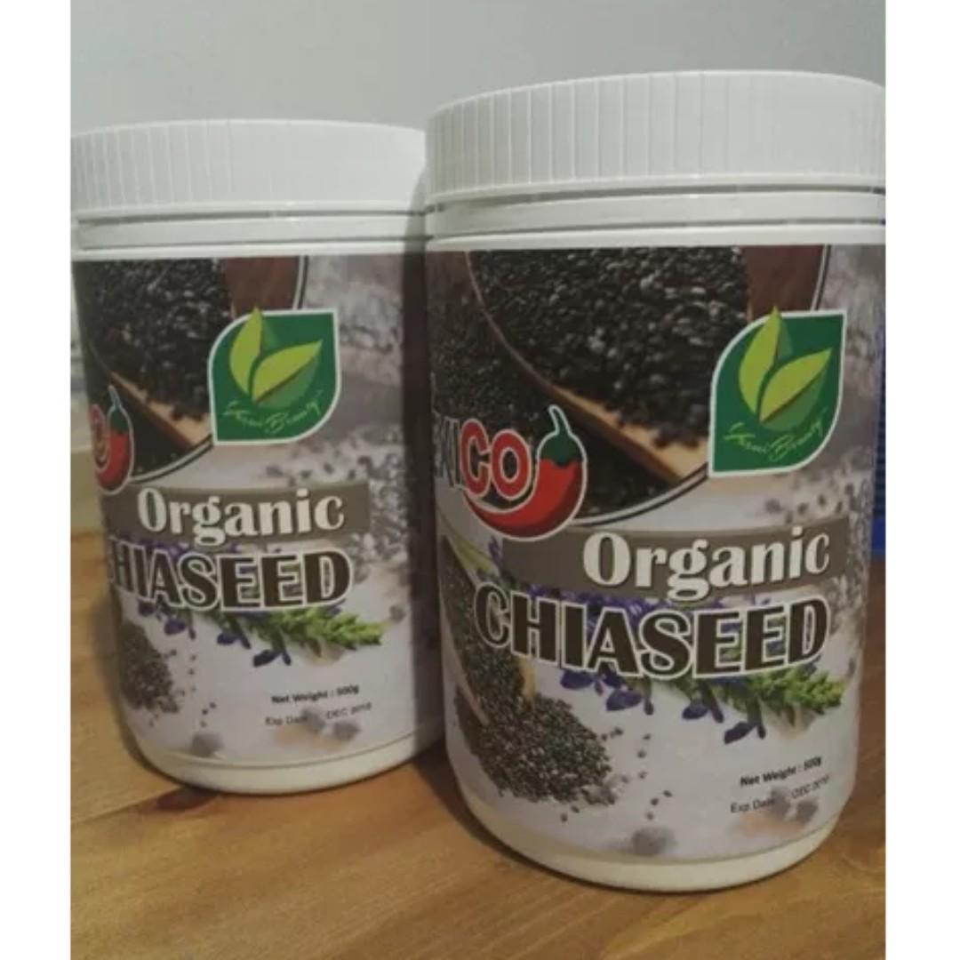 Mexico Certified Organic Chia Seeds 500g + 500g (2 bottle) ★ 100% Organic