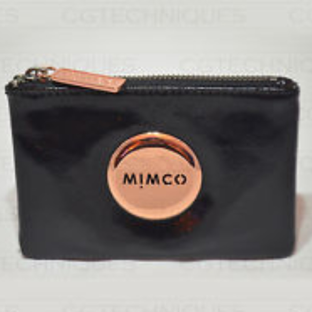 MIMCO BLACK/ROSE GOLD POUCH AUTHENTIC