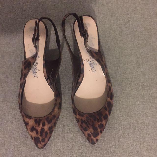 M&S Leopard Kitten Heels