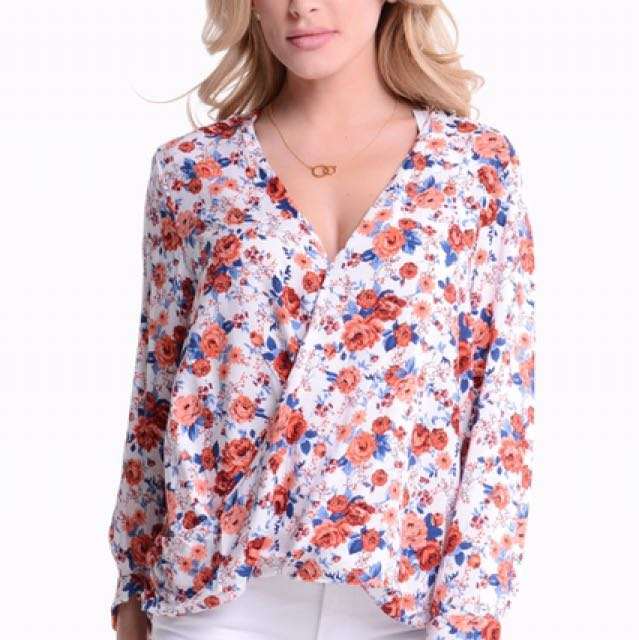 NEW Glamorous Floral Wrap Top