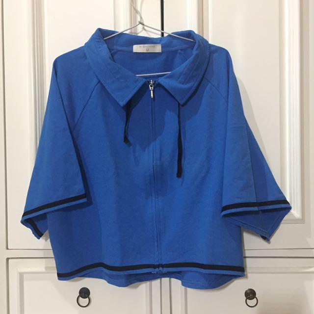 Oversized Blue Jacket by Giordano