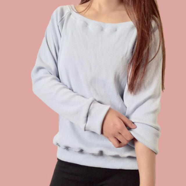 Pastel Blue Knitted Sweater
